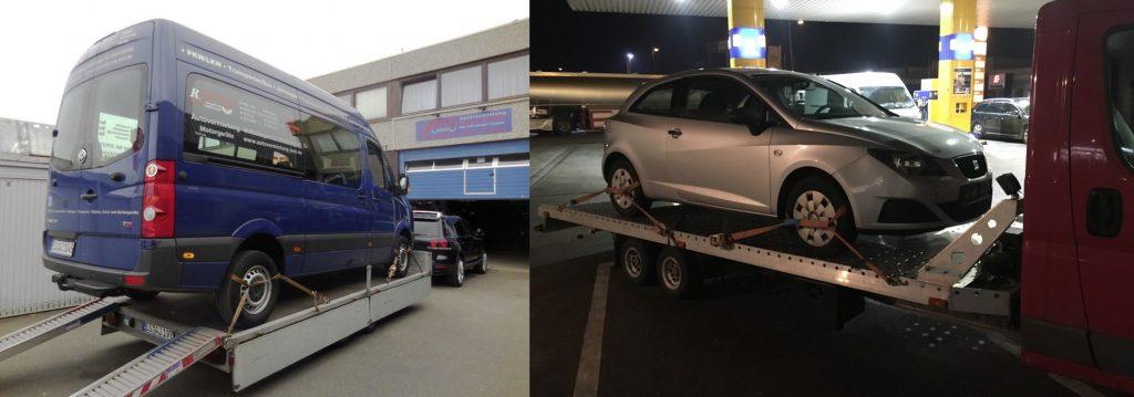 Autotransport Kosten eines LKW'S/Kombis sind höher als transport eines PKW'S.